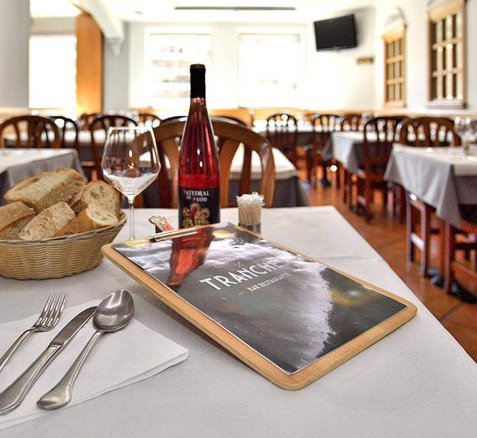 menu del dia restaurante tranches león